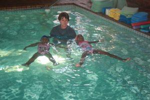 Swimming School Two Small Kids Aqua Dynamics